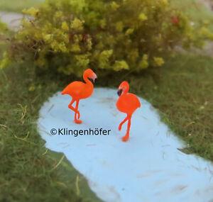 (TF02) Flamingos bemaltes Fertigmodell Figuren 1:220 Spur Z