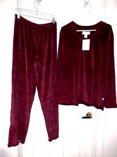 Karen Neuburger Sleepwear Set, Lounger-XL, burgandy   Plush, soft  & comfy!  NWT