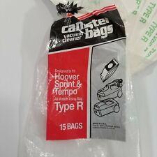 Genuine Hoover Type R Vacuum Cleaner Bags Open Package Complete 15 Bags
