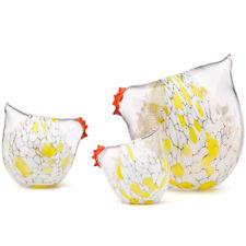 Lenox  Chicks on Parade 3-piece Art Glass Figurine Set