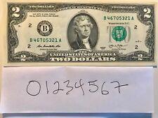$ 2 DOLLAR BILL   BROKEN LADDER 01234567 NEW YORK 2013 UNC.+SLEEVE