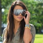 Large Oversized Shield Women Sunglasses Huge XXL Frame Aviator Polarized Lens