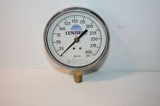 """CENTRAL PRESSURE GAUGE FOR FIRE PROTECTION 0-300 PSI 3 3/4"""" FACE 1/4 NPT NEW"""
