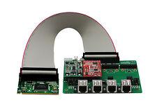 OpenVox A400M11 A400M 4 Port Analog Mini-PCI card + 1 FXS 1 FXO, Ethernet(RJ45)