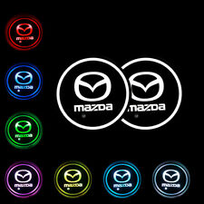 2PCS Switchable Seven Colorful LED Car Cup Holder Mat Coaster Pad for MAZDA