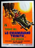 Werbeplakat Lo Genannte Trinity 'Terence Hill Bud Spencer 1 Ausgabe 1970 M302