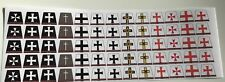 65 custom stickers for TEUTONICS/ TEMPLAR KNIGHTS KINGDOMS - lego torso size