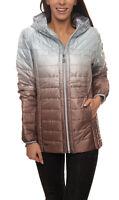 KangaROOS Stepp-Jacke Damen Outdoor-Jacke mit Dip-dye-Farbverlauf Silber/Kupfer
