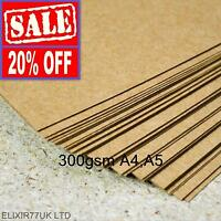 A4 A5 KRAFT BROWN CARD 300gsm THICK PAPER CRAFT MAKING BOARD STOCK BLANK LOT TAG