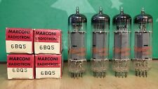 Matched Quad of Marconi (Philips) 6BQ5 EL84 NOS NIB Vacuum Tubes - Same Dates