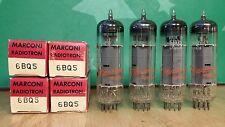 Matched Quad of Marconi (Philips) 6BQ5 EL84 NOS NIB Vacuum Tubes - Same Dates