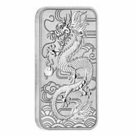 2018 1 oz Silver Australian Dragon Perth Mint Coin Bar $1 BU - IN-STOCK!!