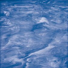 "8""X10"" Spectrum Glass Sheet S 337-2 Light Blue / White Stained Glass Sheet"