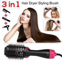 3 in 1 Hair Blow Dryer Brush Comb Straightener Curler Drying Style Tool Hot