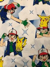 New w/o tags Nintendo Pokemon Twin Flat Sheet Flannel Pikachu 1999 Never Used