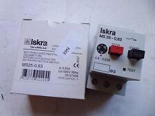 MS25-0.63 ISKRA Disjoncteur magnéto-thermique Motor protction switche 0.4-0.63A