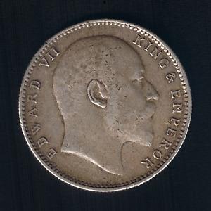 India - British - Edward VII - 1 Rupee - 1907