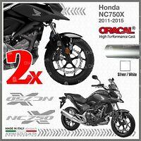 2x ADESIVI Argento Bianco compatibile con Honda NC 750 X 2011 2015 moto NC750