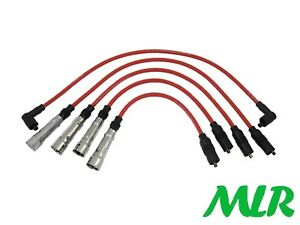 VW CORRADO G60 GOLF GTI PASSAT SCIROCCO 8MM RED SILICONE IGNITION HT LEADS BS
