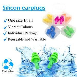 Noise Cancelling Ear Plugs For Sleeping Swimming Work Study (6 Pairs)