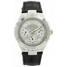 New Authentic Guess Woman BLACK leather Strap Multi function Watch U95149L2  NWT