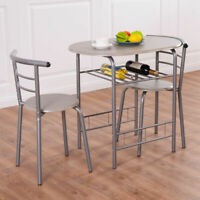 3 PCS Dining Set Table 2 Chairs Bistro Pub Home Kitchen Breakfast Furniture New