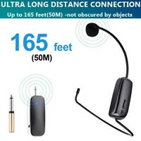 UHF Upgraded Wireless Microphone Headset Receiver w/ Audio Converter For Karaoke