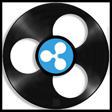 Ripple Vinyl Wall Art Record Cryptocurrency Decorative Gift Bedroom Decor Framed