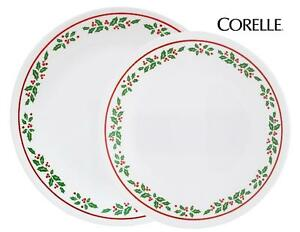 """1 Corelle WINTER HOLLY 8 1/2"""" LUNCH or 10 1/4"""" DINNER PLATE *CHRISTMAS Holiday"""