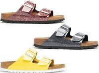 Birkenstock ARIZONA Narrow Fit Ladies Womens Suede Birko-Flor Two Strap Sandals