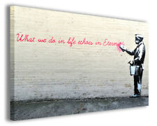 Quadri famosi Banksy XVI stampe riproduzioni su tela copia falso d'autore