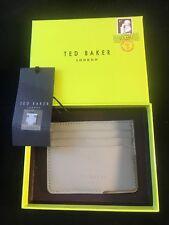 """BNIB TED BAKER LONDON Men's Grey Leather """"FOLDCOR"""" Card Holder Gift Idea"""