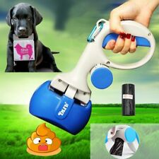 2 In 1 Pet Pooper Scooper + Bags Dog Cat Outdoor Waste Cleaning Poop Remover