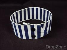 Obsolete Police on Duty Band, Blue & White Stripe Armlet