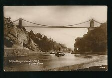 Gloucestershire CLIFTON 2 paddle steamers under Bridge 1918 RP PPC