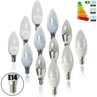 6 / 12PACK Bombilla LED Velas SES E14 3W 5W 6W 8W ROSCA PEQUEÑA CALIDO / BLANCO