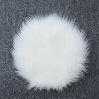 Faux Wool Fur Carpet Chair Cover Seat Pad Soft Sheepskin Floor Rug Mats For Home