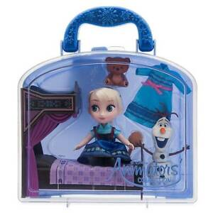 Disney Animators' Collection Frozen Elsa with Bed Mini Doll Play Set New w Tag