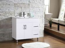 Brand New 900 Series Glossy white  Bathroom vanity With Ceramic Top