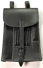 WWII GERMAN OFFICER M35 MAP BLACK LEATHER MAP CASE