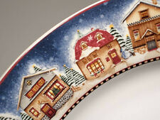 DEBBIE MUMM SAKURA SNOW ANGEL VILLAGE COFFEE CUP/SAUCER SETS 4