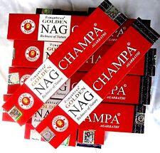 12 Packungen golden NAG CHAMPA je 15g (Gesamt 180g, 100g=7,71 €) Räucherstäbchen
