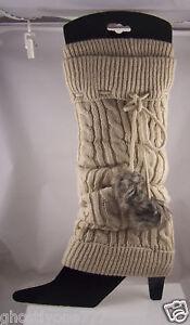 Beige leg warmers Icing one size fits most Leg warmer