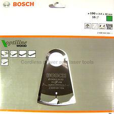 Bosch GKS65 GKS190 Optiline Circular Saw Blade 190mm, 2.0mm, 30mm 16T 2608641184