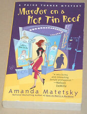 AMANDA MATETSKY Murder On A Hot Tin Roof *NFINE L/N* PAIGE TURNER MYSTERY #4 1st