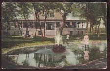 Postcard SIOUX CITY Iowa/IA  Council Oak Boat Club House & Fountain view 1907