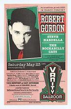 Robert Gordon 1981 May 23 Vanity Ballroom Detroit 2 Sided Handbill Gary Grimshaw