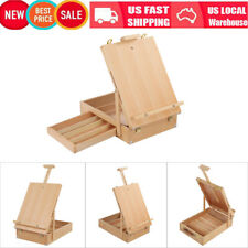 Beech Art Drawing Painting Supply Desktop Table Easel Wooden Sketch Box Portable