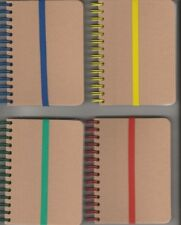 4 SMALL NOTEBOOKS WITH REMOVABLE ELASTIC CLOSURE / BLANK PAGES ~ NEW