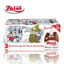 [Zaini] Moomin Milk Chocolate Egg Collectible Toys Inside 3 Eggs Italy New